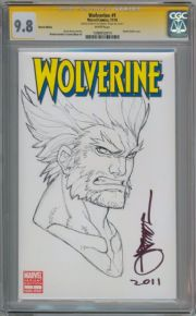 Wolverine #1 CGC 9.8 Signature Series Signed Arnolod Tsang Sketch Marvel Movie